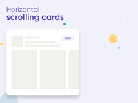 horizontal scrolling cards