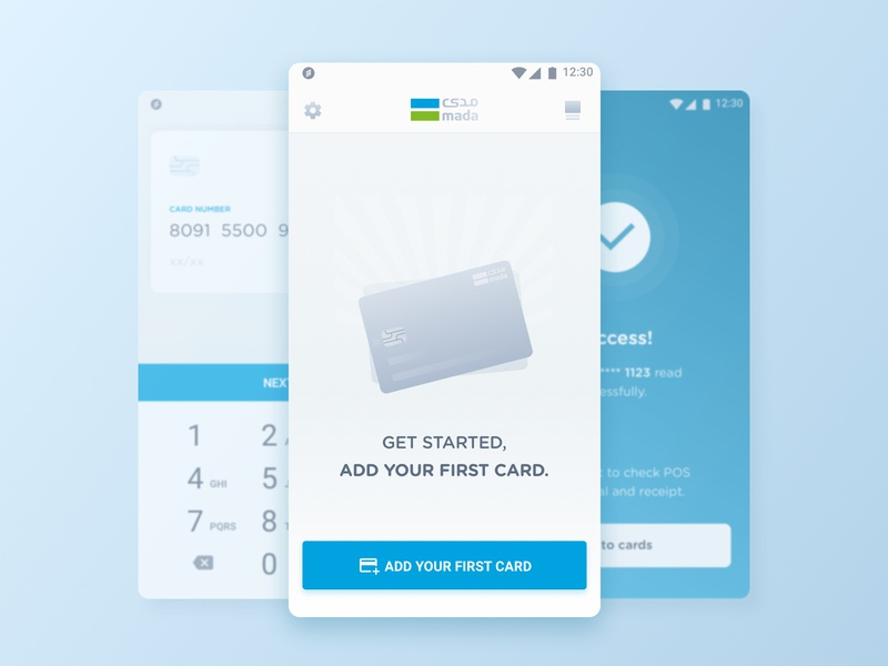mada payment ux ui clean branding gradient illustration bright design flat colorful