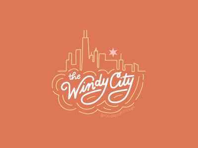 The Windy City shop local chicago designer ipad illustration lettering art hand lettered design lettering illustration 100 days of chicago chicago windy city