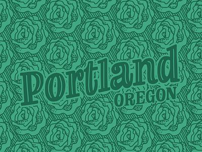 Portland Roses Postcard lettering works oregon lettered design hand lettering hand drawn pattern rose city roses portland postcard