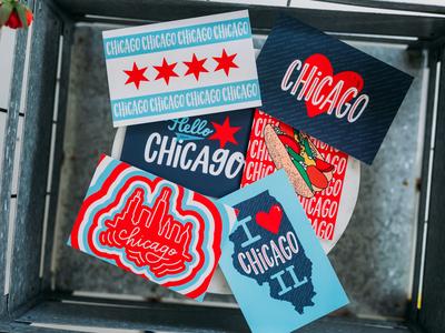 Chicago Style Postcards ipad lettering illustration custom artwork graphic design design chicago style handdrawn postcards hand lettered design hand lettering community design community pride postcards chicago