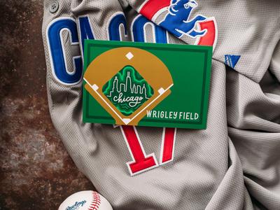 Wrigley Field Postcard Design baseball chicago lettering works ipad illustration graphic design hand drawn postcard sports wrigleyville wrigley field wrigley
