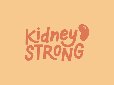 Kidney Strong lettering works kidney disease awareness chronic kidney disease ipad lettering hand lettered design hand lettering sticker design kidney disease kidney strong