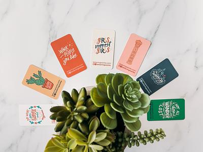 Business Card Design print design marketing materials chicago designer windy city hand lettered hand lettering business cards