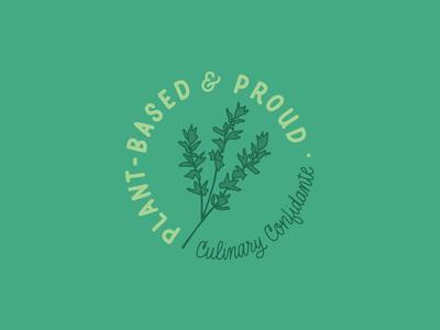 Plant-Based & Proud lettering works hand lettered design hand-lettering hand-drawn vegetarian vegan plant-based plant illustration
