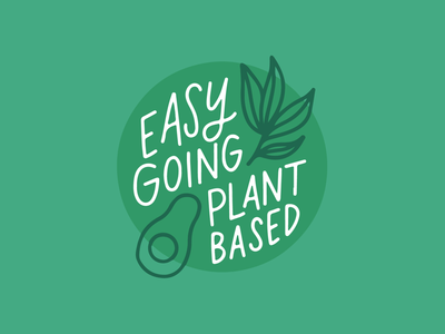 Easy Going Plant Based Logo Concept