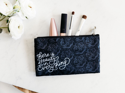 Hand Drawn Cosmetic Bag Design