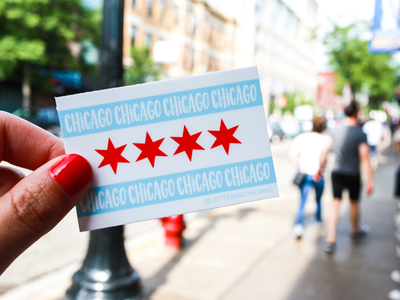Chicago Flag Sticker