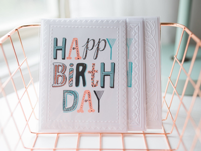 Hand Lettered Birthday Cards