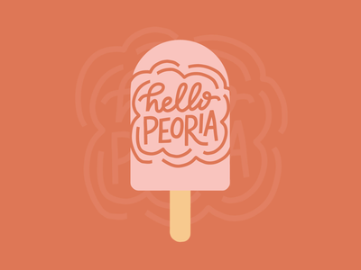 Hello Peoria Popsicle Illustration