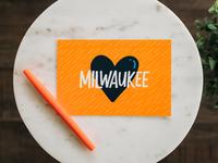 Milwaukee Heart Postcard