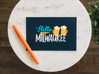 Hello from Milwaukee Postcard