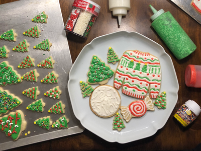Christmas Cookies let it snow hand lettering design creative expression baking handmade christmas cookies holiday