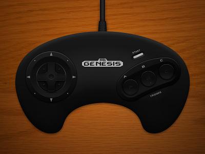 Genesis Controller photoshop controller digital illustration sega genesis
