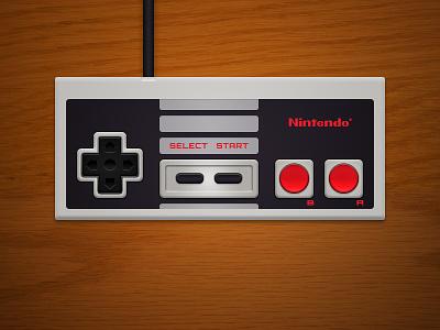 NES Controller Revised photoshop controller digital illustration nintendo nes