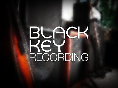 Black Key Recording Logo logo identity branding recording studio