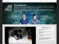 Meridian website redesign realpixels