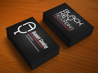 Black Key Business Card