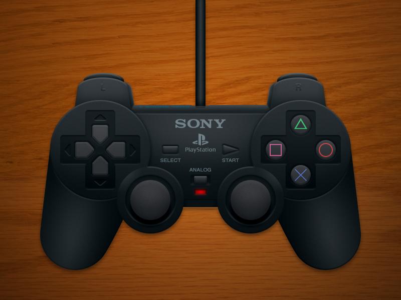 Playstation 2 Controller photoshop controller digital illustration sony playstation ps2 dual shock 2