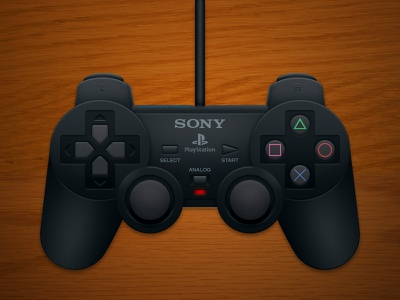 Playstation 2 Controller photoshop controller digital illustration sony playstation ps2 dual shock 2
