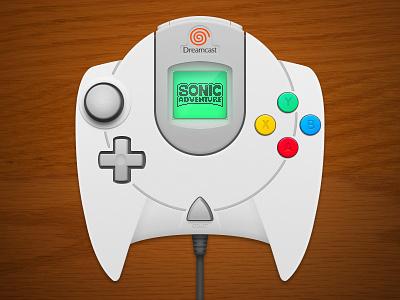 Dreamcast Controller photoshop controller digital illustration sega dreamcast sonic adventure