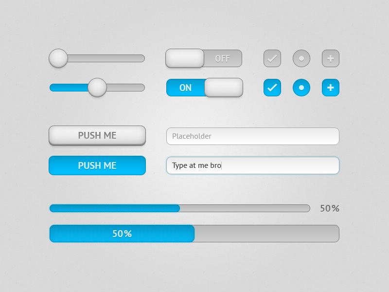 Light UI Components ui user interface freebie