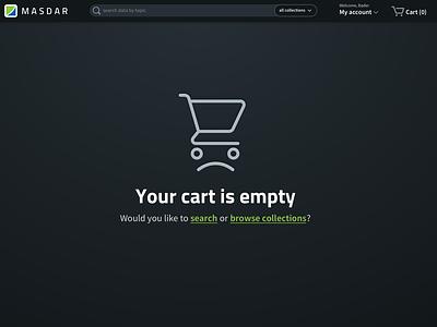 E-commerce site for datasets e-commerce ui web