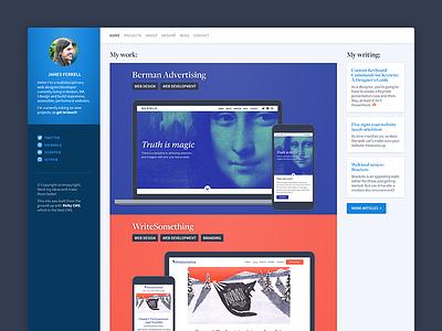jamesferrell.me v5 portfolio web design