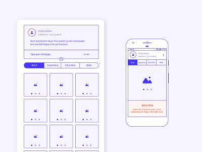 Portfolio Resume Builder responsive mobile application resume design portfolio page concept wireframe blocking uidesign uxdesign uxui ux portfolio site