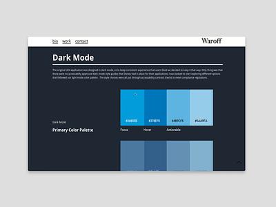 Dark Mode Sticky Column style guide demo semplice dark theme components appui website branding ux dark ui stickycolumn styleguide dark mode