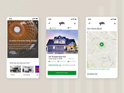 Responsive Real Estate Website uidesign uxdesign digital prototype responsive website wireframe design ux