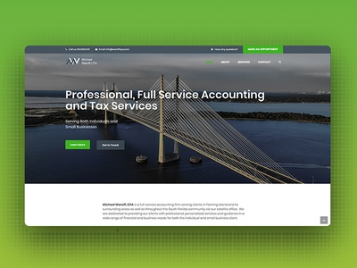 Accounting Website uiux wordpress web design