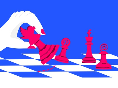 Check Mate design digital vector art illustration