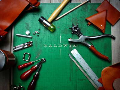 Baldwin Leather 01 identity and website....