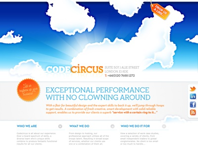Code Circus website digital user experience illustration