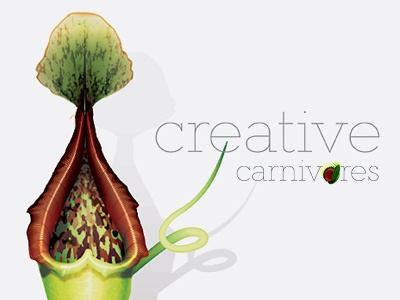 Creative Carnivores identity illustration