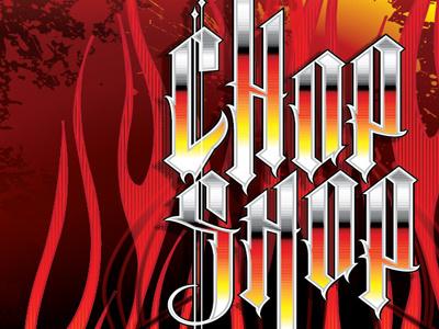 Chop Shop typography illustration