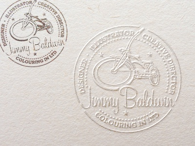 Jimmy B's Stamps identity illustration