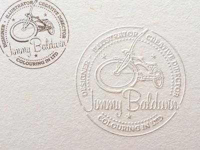 Jimmy B's Stamps identity illustration