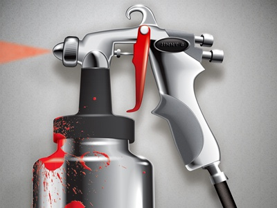 Spray Gun - detail illustration
