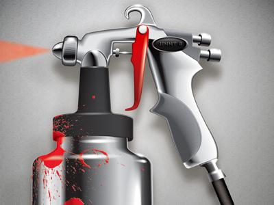 Spray Gun - detail illustration