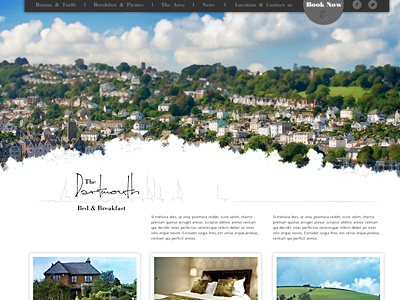 New client's B&B identity website