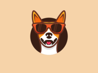 Cool dog with glasses