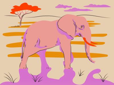 Elephant africa elephants elephant illustratoin animal elephant line illustration illustrator design art vector illustration