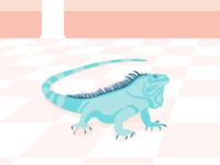 Iguana animal alphabet animal illustration teal minimal lizard iguana animal illustrator design art vector illustration