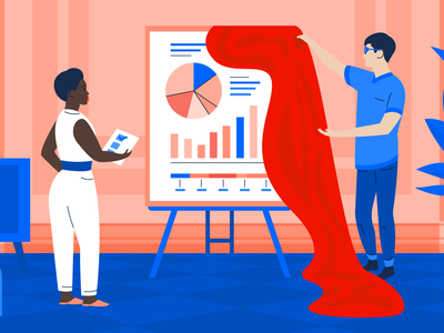 The change-maker's guide to pitching your project idea character illustration vector illustration presentation pitching project project vector tech editorial art editorial illustration blog illustration blog article atlassian artwork