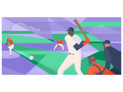 Does team chemistry actually exist? tech blog post atlassian article editorial art blog illustration editorial illustration teamwork abstract sports chemistry team baseball character illustration illustrator design art vector illustration