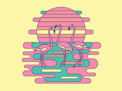 Psychedelic Flamingos