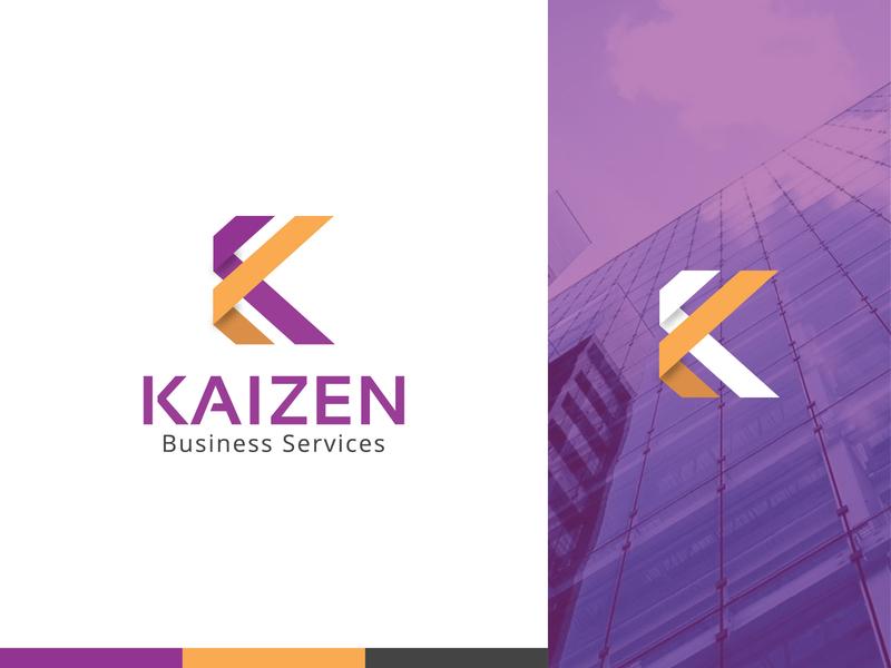 Kaizen Business Service - Logo brand brand agency k letter k logo design corporate branding branding logo