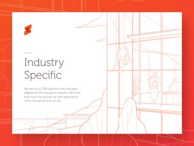 Surefyre feature concept business insurance windows glass building sky landscape city section features page landing
